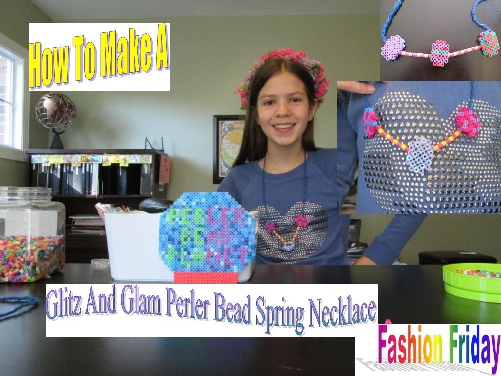 How To Make A Perler Bead Fab Spring Necklace! ♫ Fashion Friday