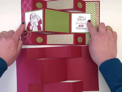 How to make a Stampin' Up! UK Tri-fold Card