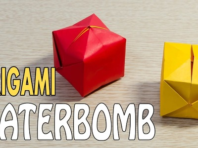 How to Make a Water Bomb - Paper Balloon : Origami