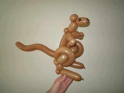 How to make balloon kangaroo