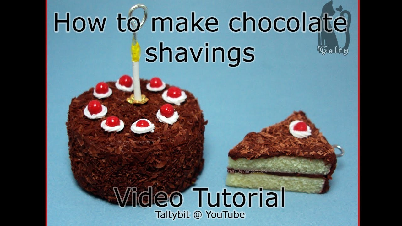 How to make Chocolate shavings (a polymer clay tutorial) (Talty's Decorations and Toppings #2)
