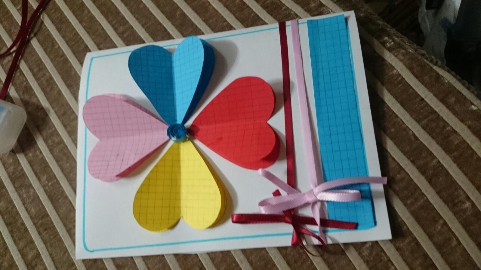 How to Make HandMade Greeting Cards - DIY - Tutorial .