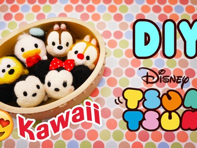 How to make Tsum Tsum Tutorial - Needle Felting DIY Disney