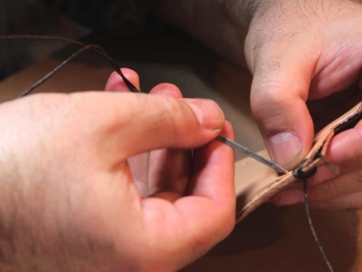 How to Stitch Leather Wallets : Working With Leather