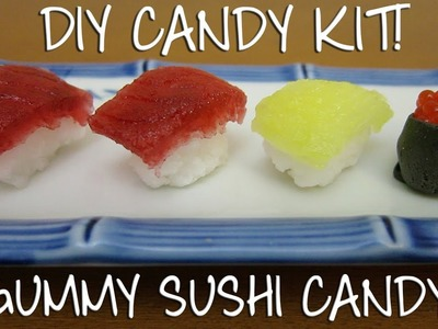 Kracie Popin' Cookin' DIY Sushi Gummy Candy Kit! - Grape and Soda Flavor Candy!