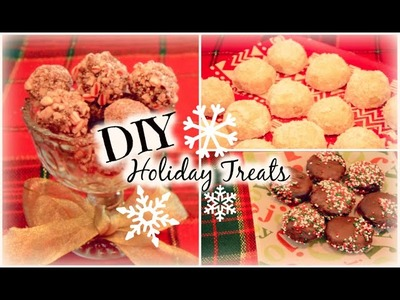 Last Minute DIY Holiday Treats! Candy Cane Truffles, Snowball Cookies, Peppermint Patties!