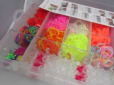 LOOM BANDS COLOURFUL RAINBOW RUBBER LOOM BANDS BRACELET DIY MAKING SET WITH S-CLIPS