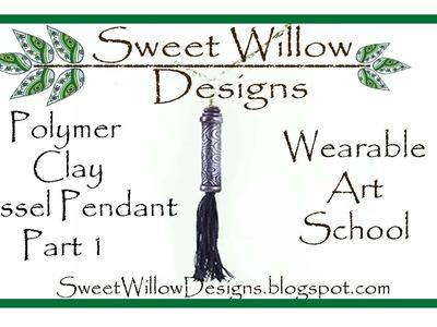 #lovesummerart SWD Polymer Clay Tassel Pendant Part 1