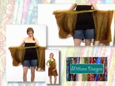 "Milliana Designs ""HOW TO WEAR"" your wrap skirt VIDEO #3"