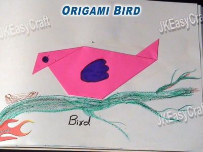 Origami Paper Bird | Origami For Beginners  #3  |  JK Easy Craft 015