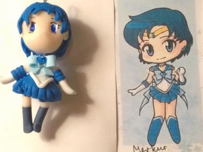 Polymer Clay Sailor Moon Tutorial Series Part 2 - Sailor Mercury Chibi