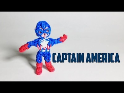 Rainbow Loom Avengers Series: Captain America