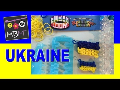 Rainbow Loom or Alpha Loom Tutorial: Flag of Ukraine Charm