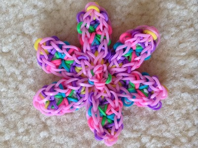 Rainbow Loom tutorial: How to make a basic flower design