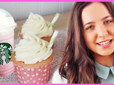 Starbucks Inspired Cotton Candy Frappuccino Cupcakes With SweetEmelyne!