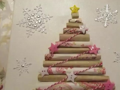 25 Days of Christmas Crafts Day #22 | Paper canvas tree