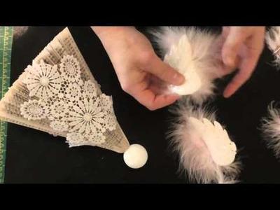 Book fold Christmas angel pattern full tutorial