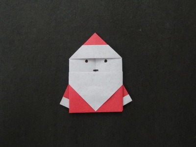 Christmas Origami: How to fold a Simple Santa Claus