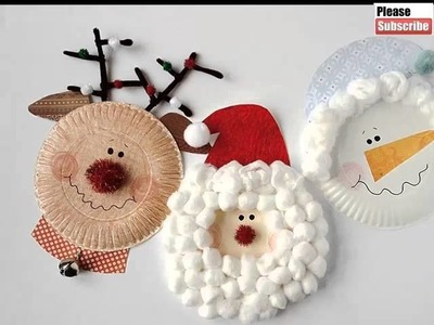 Christmas Paper Plate Crafts For Kids| Beautiful Handmade Set Of Diy Picture Collections & Ideas