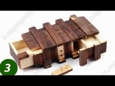 Compartment Wooden Secret Magic Puzzle Box 4597