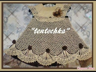 Crochet baby dress| How to crochet an easy shell stitch baby. girl's dress for beginners 191