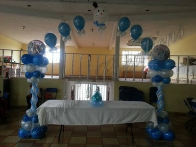 Decoracion de tema Frozen - Decoraciones con globos