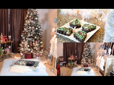 Decorate With Me! Christmas Room Tour - Christmas Decorating Ideas  2014 - MissLizHeart