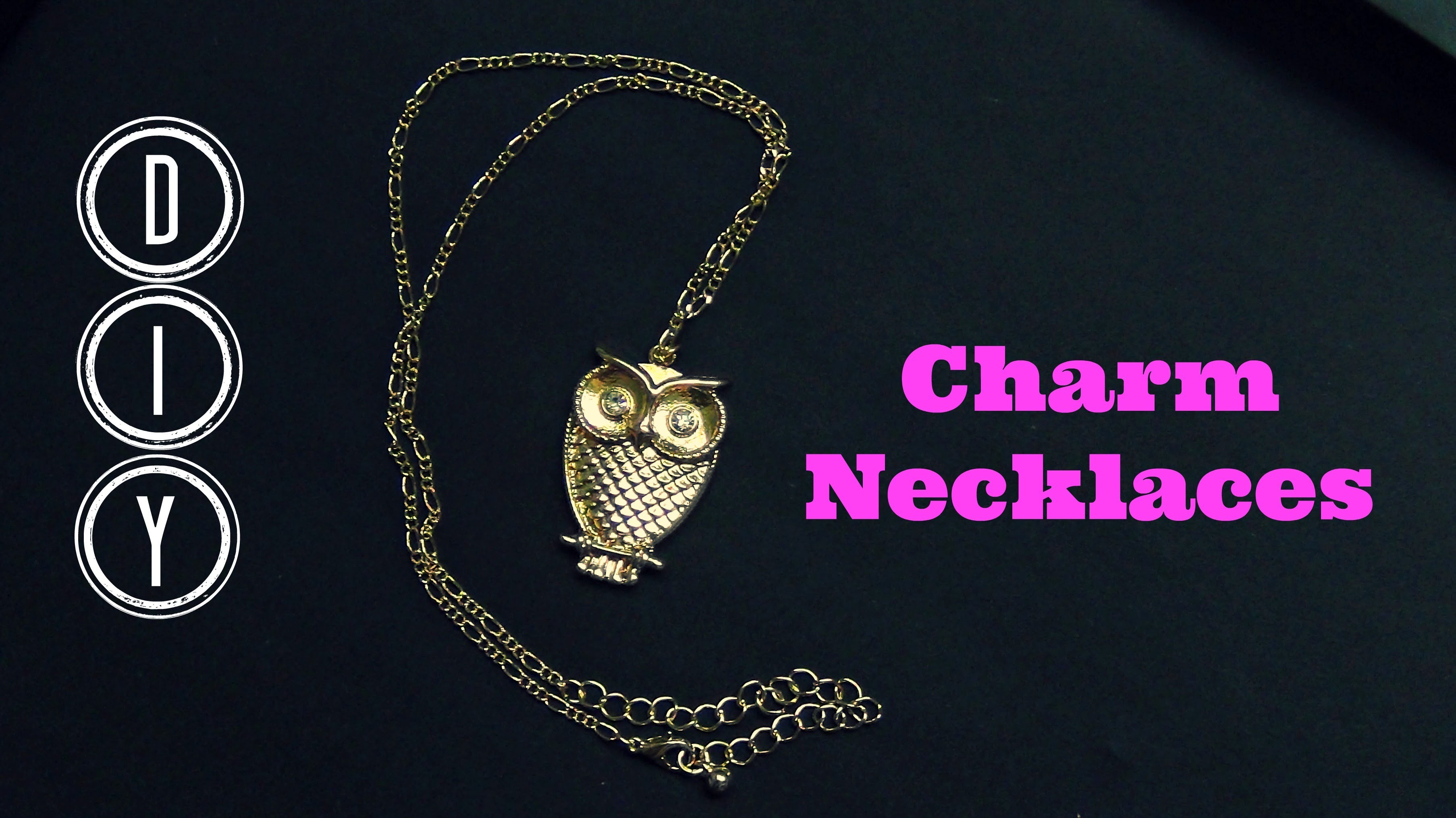 DIY Charm Necklaces! DIY Christmas Gift ♥