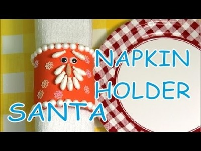 DIY Crafts for Christmas Plastic Bottles Santa Napkin Holders How to Tutorial Recycled Bottles Craft