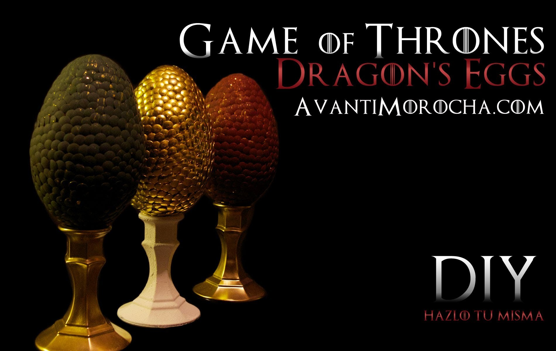 DIY Game of Thrones Dragon's Eggs. Easter Eggs. Pascuas