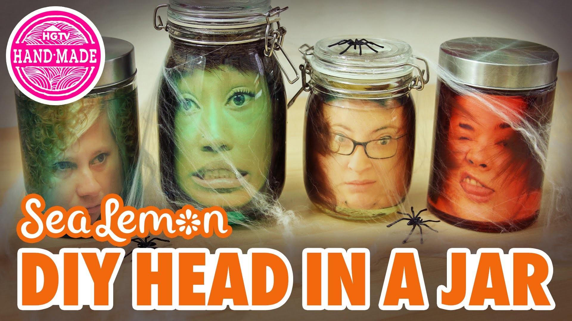 DIY Head in a Jar with Sea Lemon - HGTV Handmade