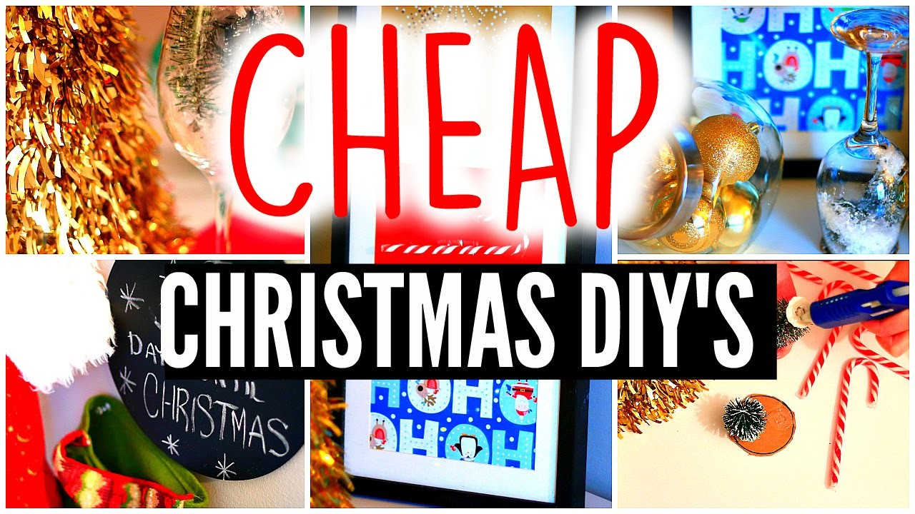 DIY Holiday Room Decor: Cheap Christmas Crafts & Decorations
