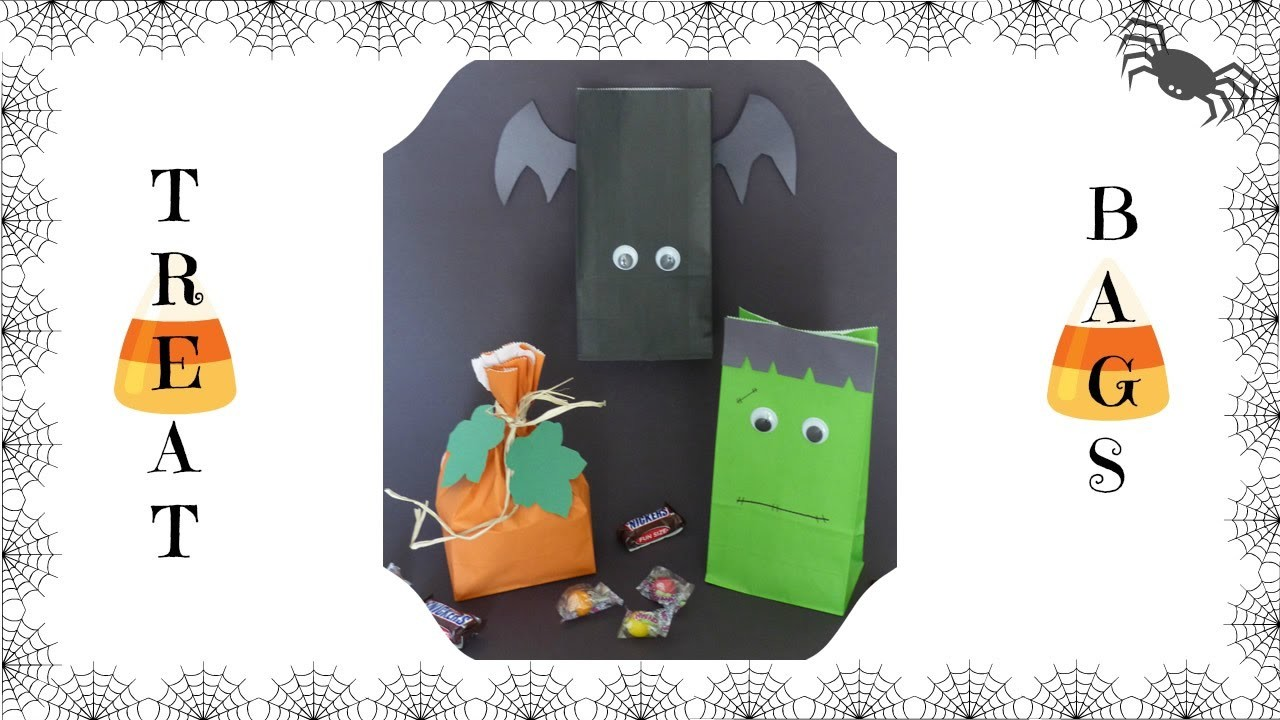 DIY: How to Make Halloween Treat Candy Bags | Halloween Treat Bags