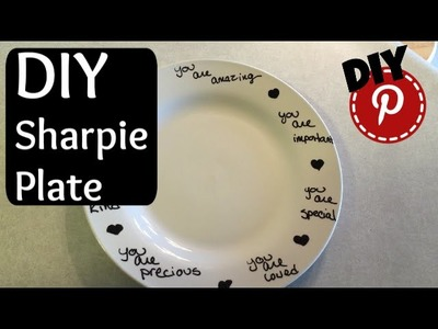 DIY Plate Decorating With A Sharpie