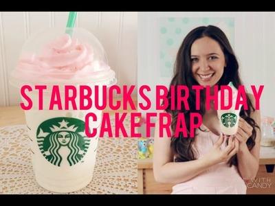 DIY Starbucks Birthday Cake Frap