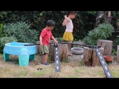 DIY Wooden Car Roads and Ramps