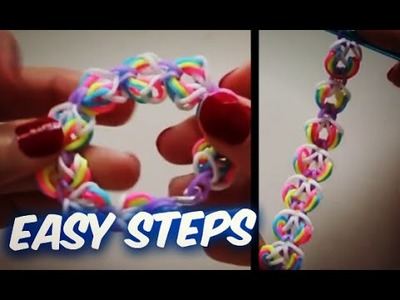 Easy Bubble Loom Bracelet | with out Rainbow | Loom Bands Tutorial