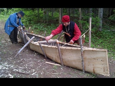 FULL VIDEO of HOW TO BUILD A SPRUCE BARK CANOE!