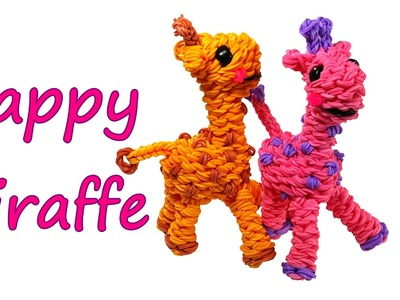 Happy Giraffe Tutorial by feelinspiffy (Rainbow Loom)