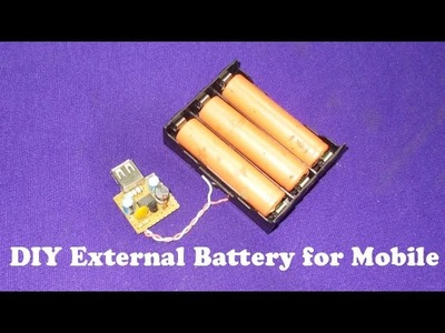 Homemade External DIY Portable Power Bank Backup Battery USB Charger Cell Mobile Phone Free Energy