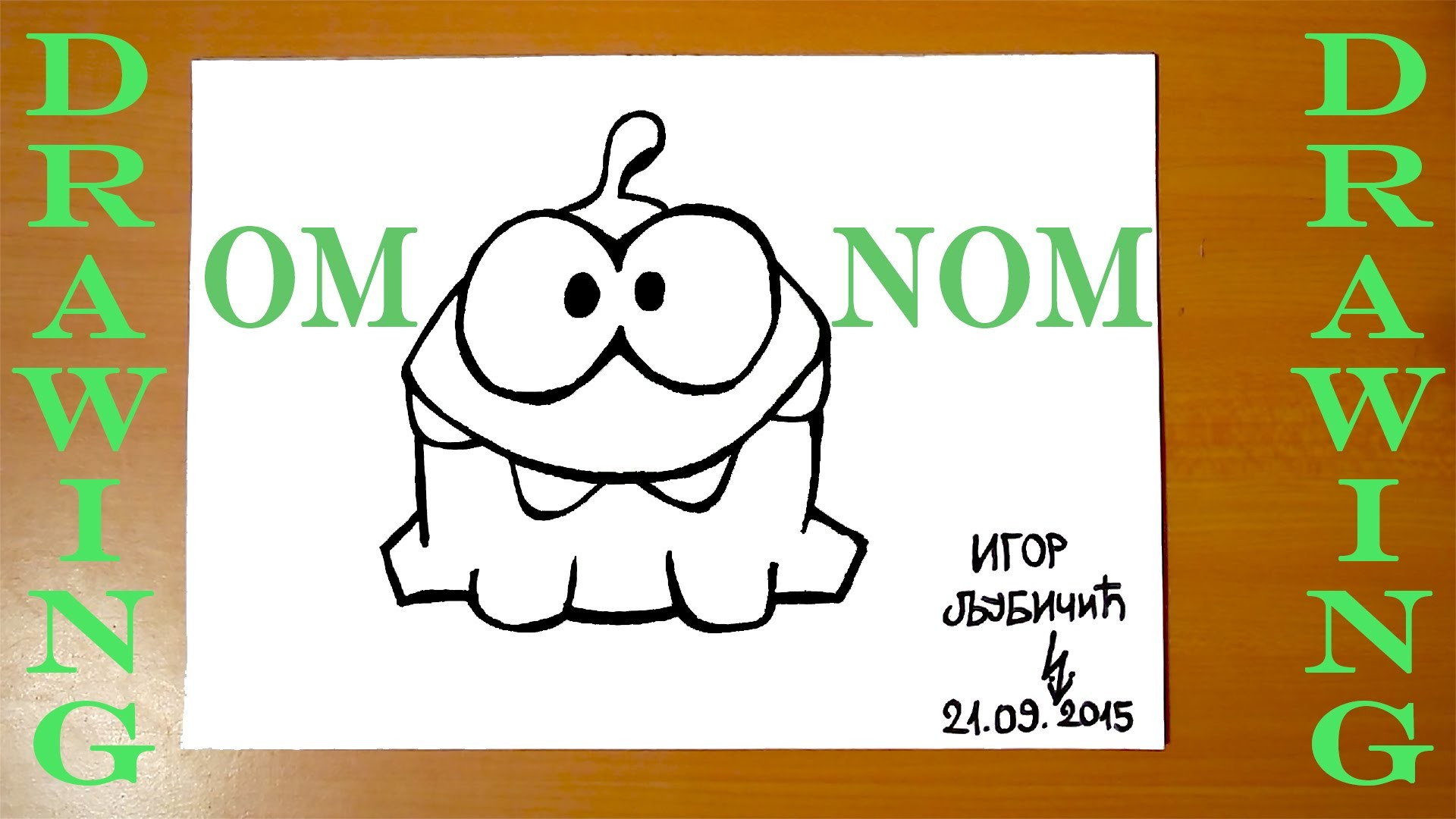 How To Draw Om Nom From Cut The Rope Easy Draw Easy Stuff But Cool