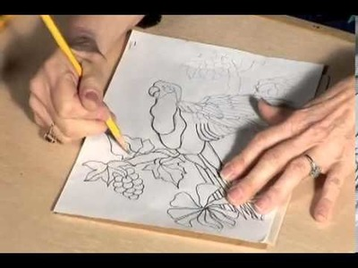 How to Make a Mexican Bark Painting Part 1