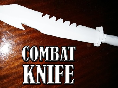 How to make a paper combat knife that cuts - paper weapons