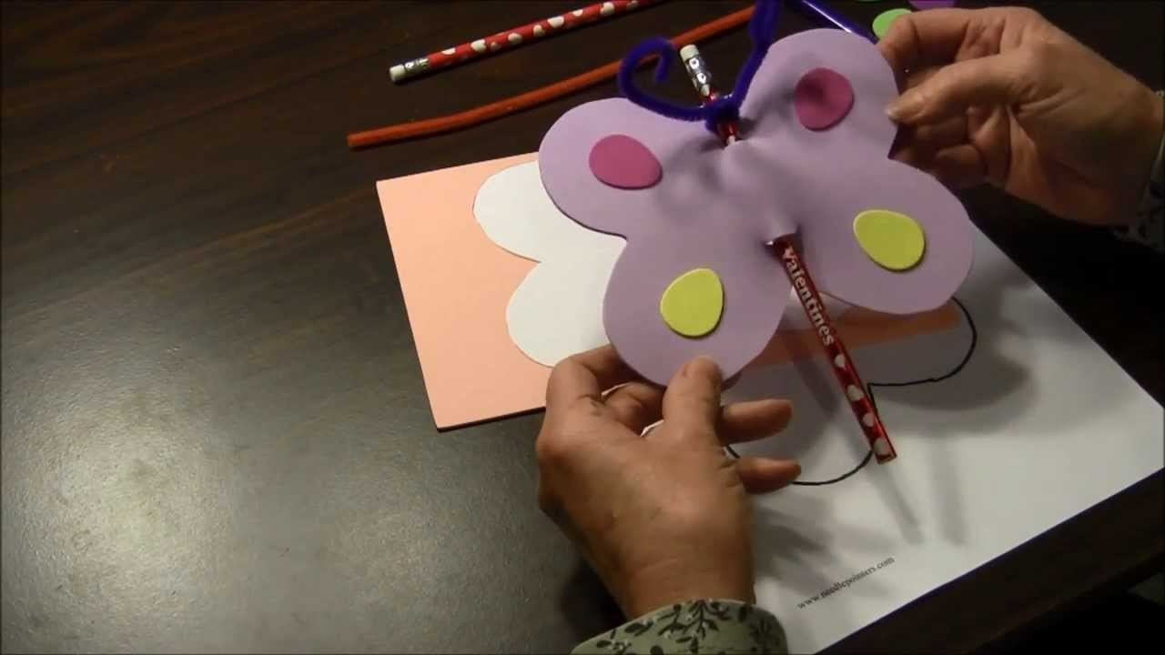 How to make a Valentine's Day Butterfly Pencil Card