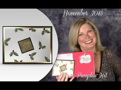 How to make an embossed Christmas Card w. Stampin Up Nov 2015  Paper Pumpkin & give-away