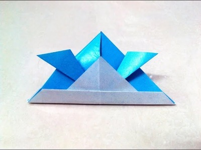 How to make an origami samurai helmet.