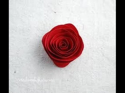 How to make paper Rose in easy steps