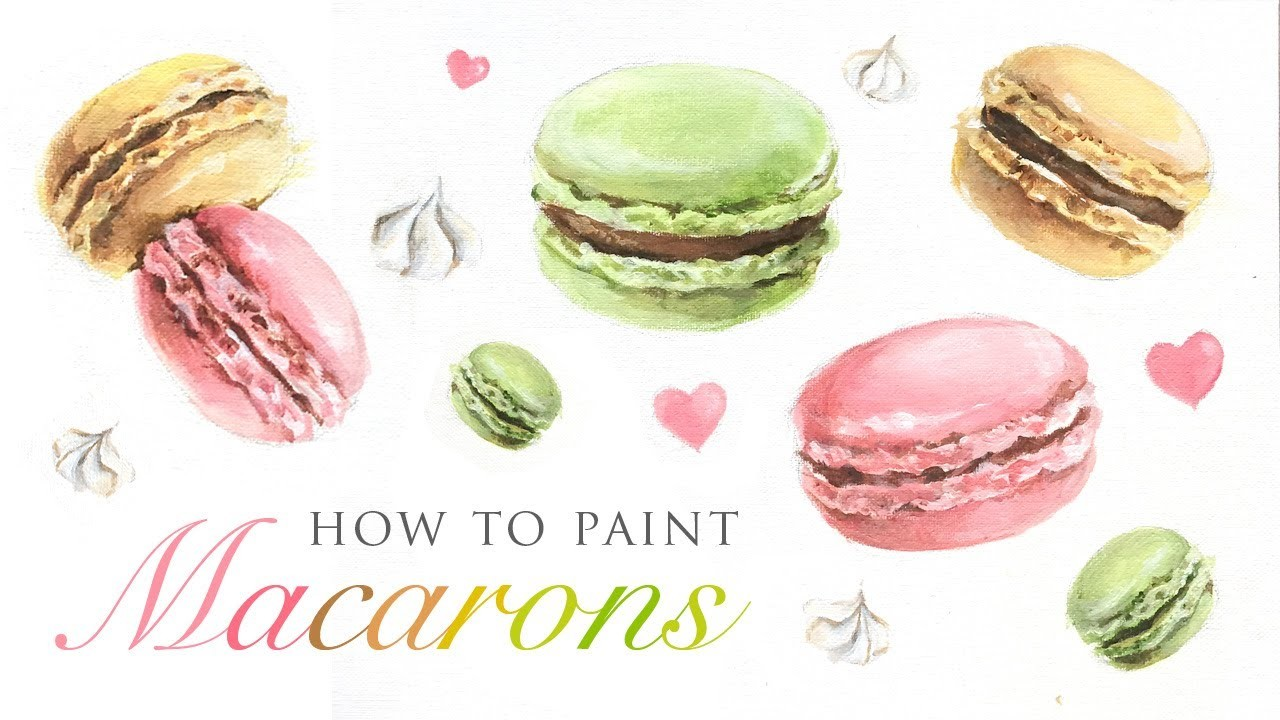 How To Paint Macarons - Fun art tutorial for any skill level