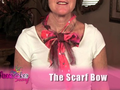 How to Tie a Scarf Bow - Firecracker Scarf style # 02