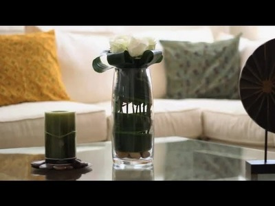 How to Use Leaves to Decorate a Vase : Decorations for the House